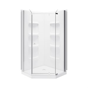 Nevada Neo Angle Shower Enclosure Kit With Acrylic Base and Walls