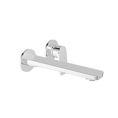 Single lever wall-mounted lavatory faucet, drain not include