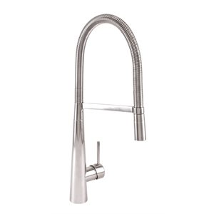 High single hole kitchen faucet with 2-function detachable s