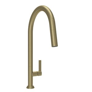 High single hole kitchen faucet with 2-function pull-down sp