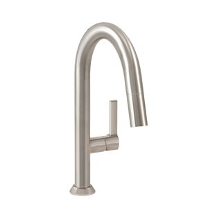 Single hole bar / prep kitchen faucet with 2-function pull-d
