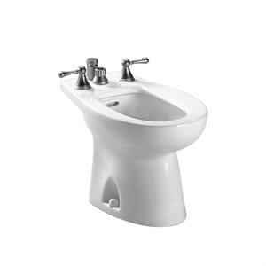 TOTO® Piedmont® Deck Mount Vertical Spray Flushing Rim Bidet, Cotton White - BT500B#01