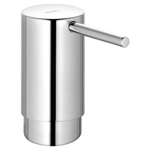 Soap dispenser | with holder and pump | 93 mm | polished chrome