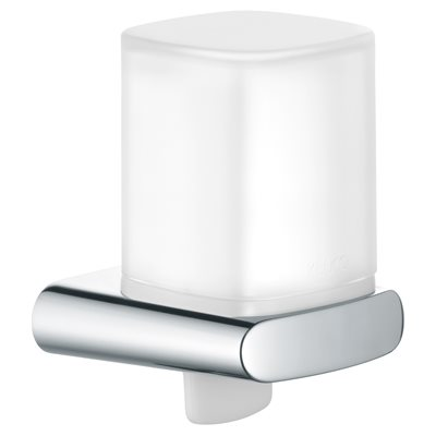 Lotion dispenser   with holder and pump   polished chrome