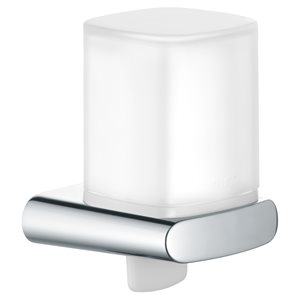 Lotion dispenser | with holder and pump | polished chrome