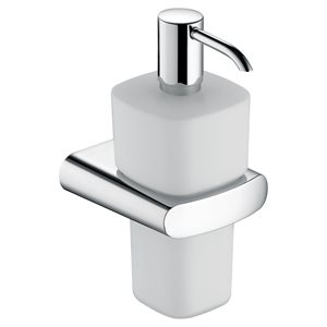 Lotiondispenser | with holder and pump | polished chrome