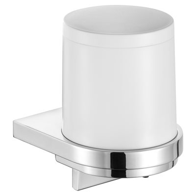 Lotion dispenser | with holder and pump | chrome-plated / anthracite