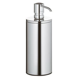 Lotion dispenser table model | with pump and synthetic insert | polished chrome