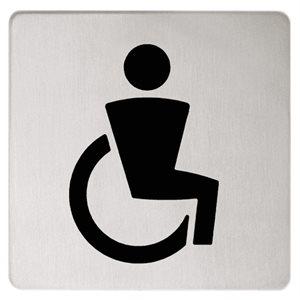 Doorplate symbol Disabled | polished chrome