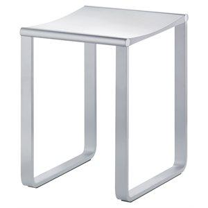 Bathroom stool | max load 220 lb | polished chrome / light grey (RAL 7035)