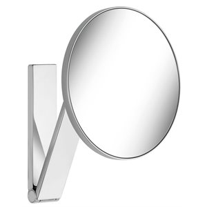 Cosmetic mirror iLook_move   wall model / round   polished chrome