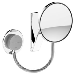 Cosmetic mirrorl iLook_move US   wall-fitted model,round   illuminated   polished chrome