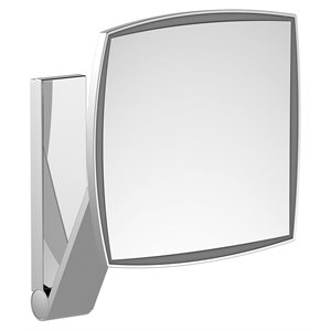 Cosmetic mirror iLook_move   wall model squared w.light   polished chrome