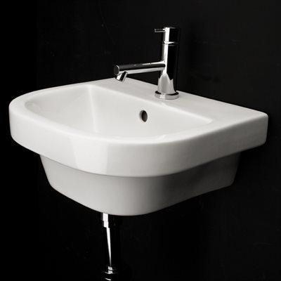 Piazza Bathroom Sink White