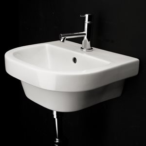 Piazza Bathroom Sink White
