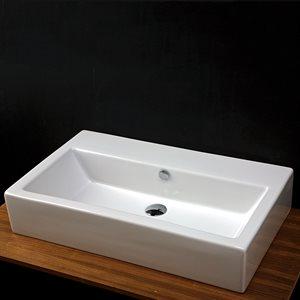 Aquamedia Bathroom Sink White