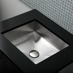 Argento Bathroom Sink Brushed Stainless Steel