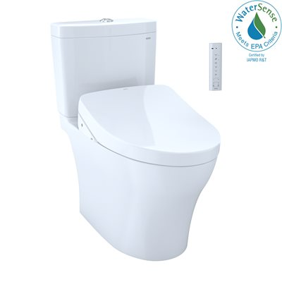 2PC AQUIA IV 1G UH WASHLET+ W / SW3046AT40 & A. FLUSH THU765