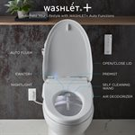 2PC AQUIA IV UH WASHLET+W / S550 e SW3056AT40 & A. FLUSH THU76