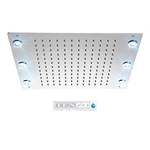 Ceiling shwr head 33x43cm [13x17in] LED (6x) chrome