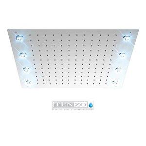Ceiling shwr head 43x53cm [17x21in] LED (8x) chrome