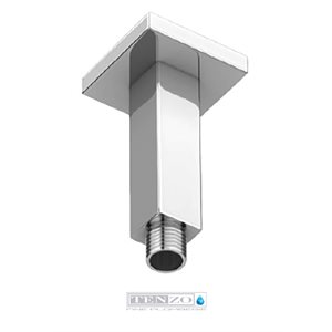 Shwr arm ceiling square 10cm [4in] chrome