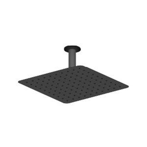 Shwr arm ceiling round 10cm [4in] mattee black
