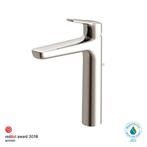 FAUCET,SINGLE LAV,GS (L) 1.2GPM POLISHED NICKEL W / POP