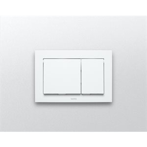 RECTANGLE PUSH PLATE - IN WALL TANK SYS.- WHITE