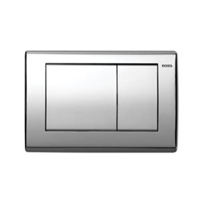 CONVEX PUSH PLATE FOR IN WALL TANK SYS- POLISHED CHROME
